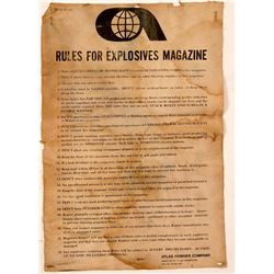 Atlas Powder Broadside on Cloth   (106416)