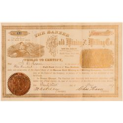 Banner Gold Mining and Milling Stock   (108098)
