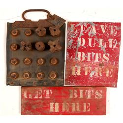 Drill Bit Caddy and Signs   (108027)