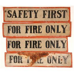 Four Metal Fire Safety Signs   (108246)