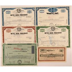 California Aviation Companies Stock Certificates   (107350)