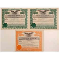 Storm King Aircraft Corporation, Inc. Stock Certificates   (107367)