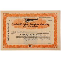 Peekskill Hydro-aeroplane Company Stock Certificate   (107363)