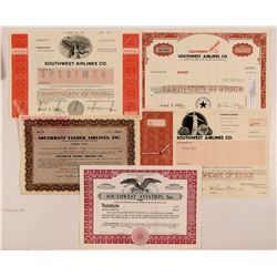 Southwest  Airlines Stock Certificate Group   (107362)