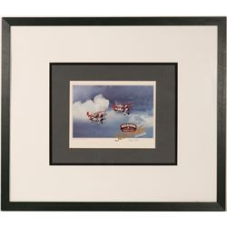 Stearman  Red Baron  Desk Display and Framed Print   (106370)