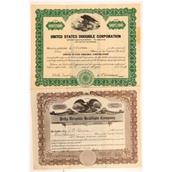 Two Different Dirigible Company Stock Certificates   (107360)