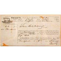 1849 New Orleans Riverboat Bill of Lading   (67024)