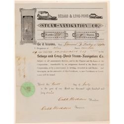 Sebago & Long Pond Steam Navigation Stock   (105630)