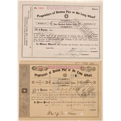 Proprietors of Boston Pier or the Long Wharf Stocks (2)   (105603)