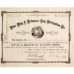 Cape May & Delaware Bay Navigation Co Stock   (83404)