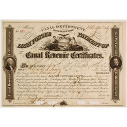 State of New York Canal Revenue Loan Certificate   (83406)