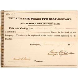 Philadelphia Steam Boat Tow Co Stock   (83337)