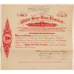White Star Line Stock   (105600)