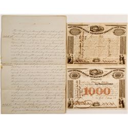 Orininc Steam Navigation Co Of NY Bonds and and Hand Written Articles   (83457)