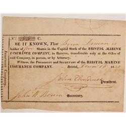 Bristol Marine Insurance Co Stock   (83415)