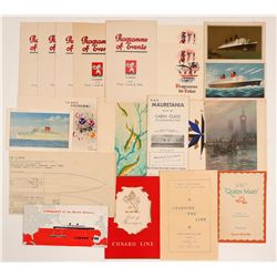 Cunard White Star Line Booklets (18)   (106543)