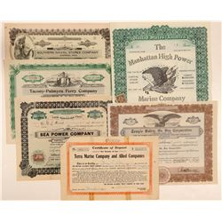 Marine Company Stocks and Bond   (105629)