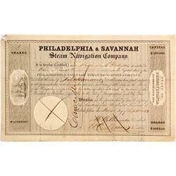 Philadelphia & Savannah Steam Navigation Co. Stock   (83335)