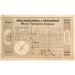 Philadelphia & Savannah Steam Navigation Co. Stock   (83335)