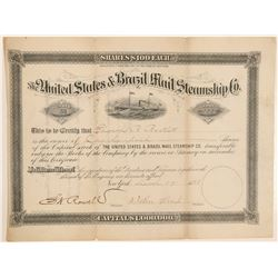 US and Brazil Mail Steamship Stock   (105635)