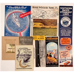 US Cruise Line Brochures and Time Tables (9)   (106542)