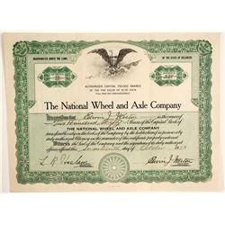 National Wheel and Axle Company   (89657)
