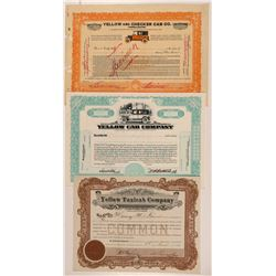 Yellow Cab Company Specimen Stock Certificates   (107299)