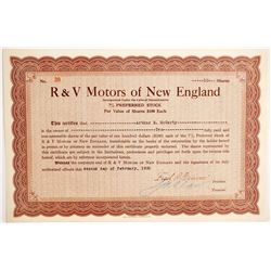 R & V Motors of New England   (89762)