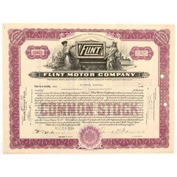Flint Motor Company Stock Certificate   (104184)