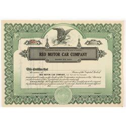 REO Motor Car Company Stock Certificate   (104235)