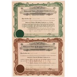 Sprague Tire & Rubber Co. Stock Certificates   (104233)
