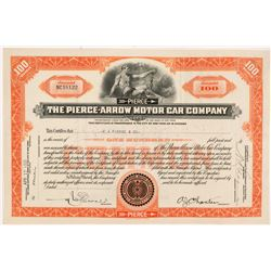 Pierce-Arrow Motor Car Company Stock Certificate   (104236)