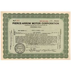 Pierce-Arrow Motor Corporation Stock Certificate   (104215)