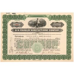 H.H. Franklin Manufacturing Co. Stock Certificate   (103492)