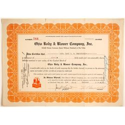 Ohio Body & Blower Co Inc. Stock   (89613)