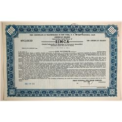 SIMCA Stock   (89707)