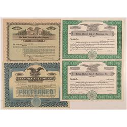 Four Taxi Cab Company Stock Certificates   (107301)