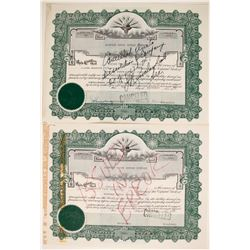 Norfolk Truck Repair Co. Stock Certificates   (89602)