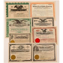 Tire & Rubber Companies Stock Certificates   (107239)
