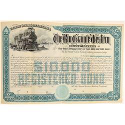 Rio Grande Western Railway Company Specimen Stock   (104808)