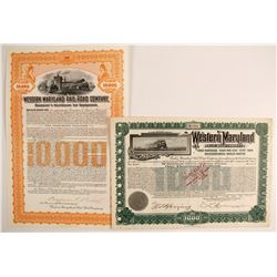 Western Maryland Railroad Co Bonds (2)   (86977)