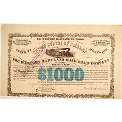 Western Maryland RR Co Bond   (86960)