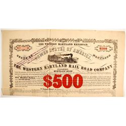 Western Maryland RR Co Bond $500   (87002)