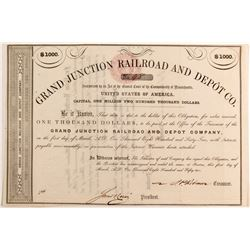 Grand Junction Rail Road and Depot Co Bond   (83244)