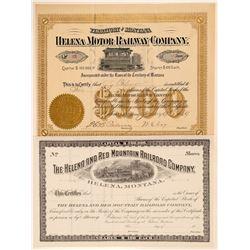 Helena Montana  Stock Cert   (104630)