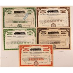 Akron, Canton & Youngstown Railroad Co. Stock Certificates   (107356)