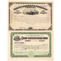 Oregon Railroad ephemera   (104661)