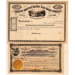 Oregon Railroad ephemera   (103235)