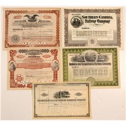 Five Pennsylvania Certificates   (106076)