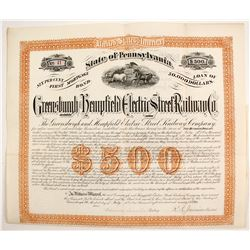 Greensburgh and Hempfield Electric Street Railroad Bond   (83262)